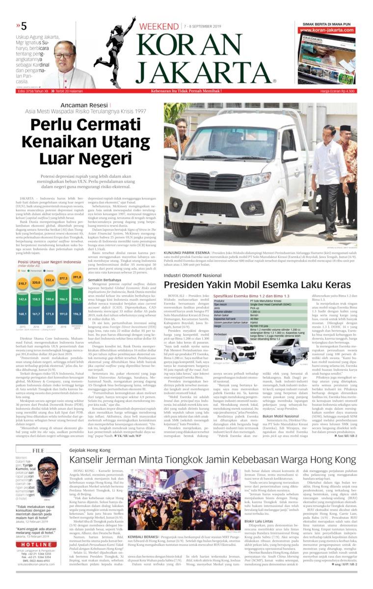 Koran Digital Koran Jakarta 07 September 2019