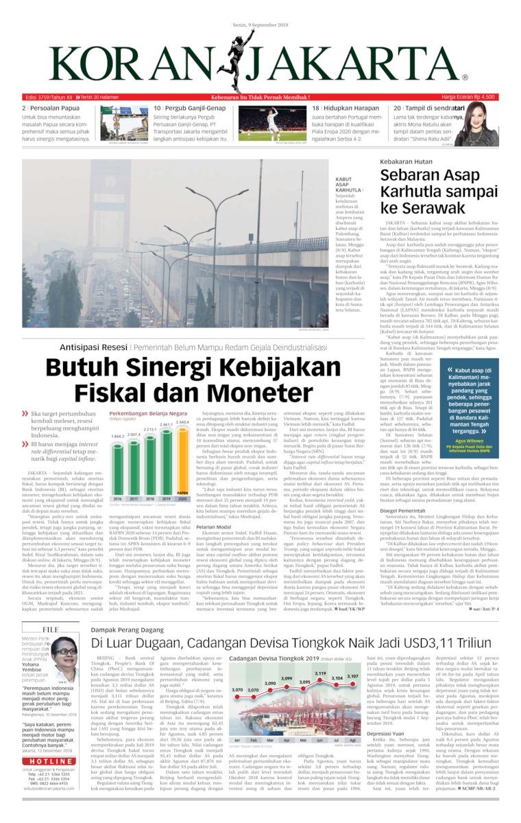 Koran Digital Koran Jakarta 09 September 2019