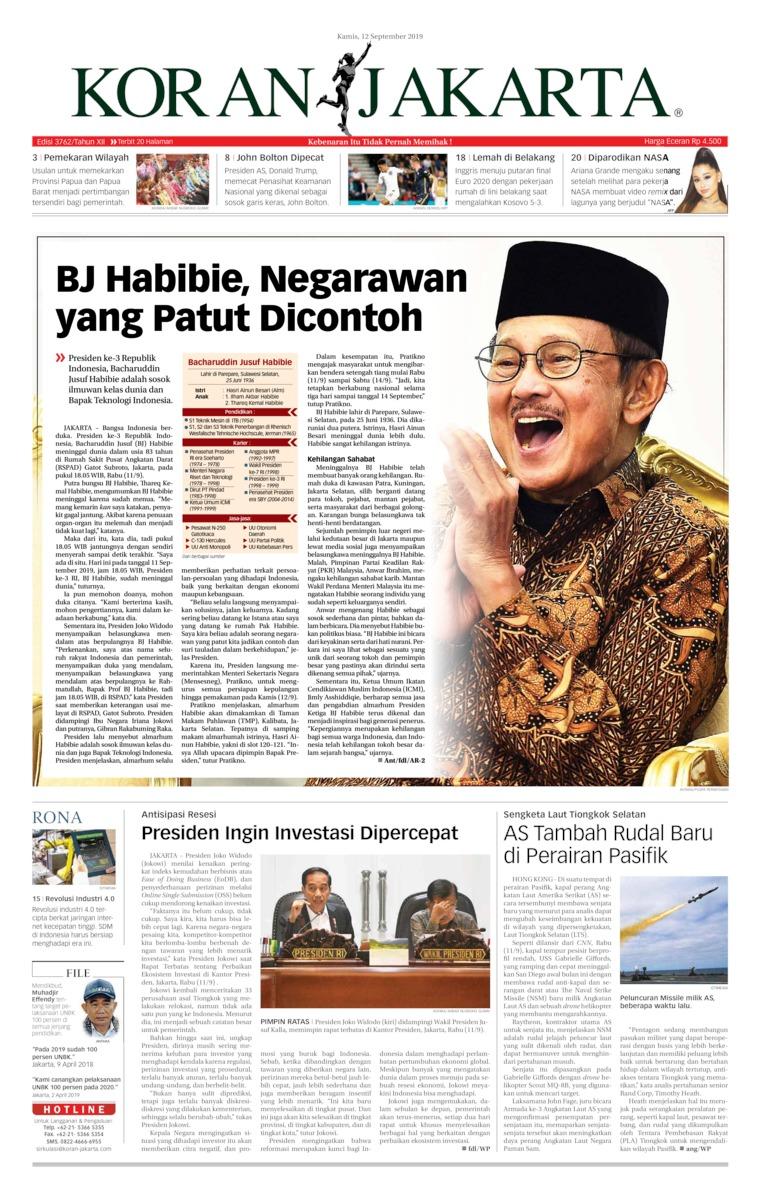Koran Digital Koran Jakarta 12 September 2019