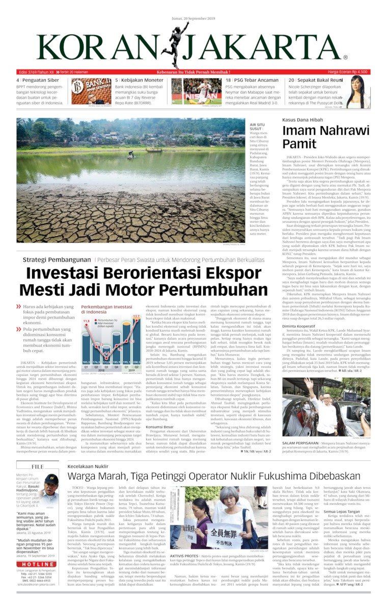 Koran Digital Koran Jakarta 20 September 2019