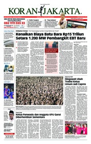 Cover Koran Jakarta 26 Februari 2018