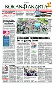 Cover Koran Jakarta 23 April 2018