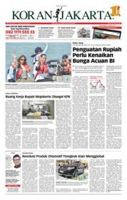 Cover Koran Jakarta 25 April 2018