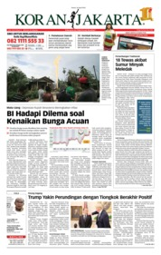 Cover Koran Jakarta 26 April 2018