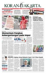 Cover Koran Jakarta 22 Mei 2018