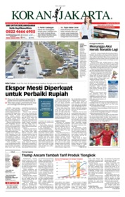 Cover Koran Jakarta 20 Juni 2018