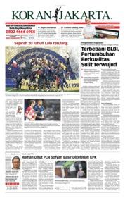 Cover Koran Jakarta 16 Juli 2018
