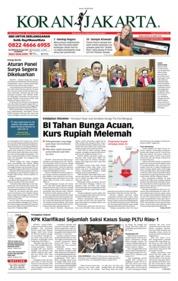 Cover Koran Jakarta 20 Juli 2018