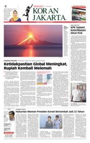 Cover Koran Jakarta 21 Juli 2018