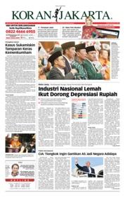 Cover Koran Jakarta 23 Juli 2018