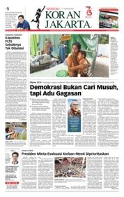 Cover Koran Jakarta 11 Agustus 2018