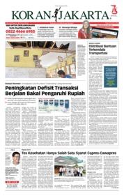 Cover Koran Jakarta 13 Agustus 2018