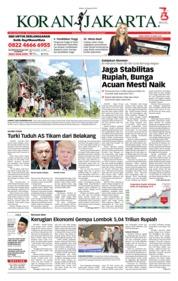 Cover Koran Jakarta 14 Agustus 2018