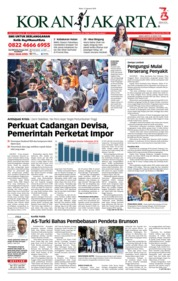 Cover Koran Jakarta 15 Agustus 2018