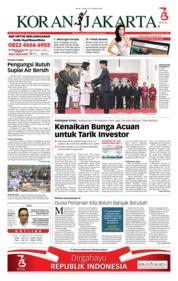 Cover Koran Jakarta 16 Agustus 2018
