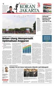 Cover Koran Jakarta 18 Agustus 2018