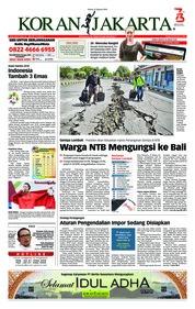 Cover Koran Jakarta 21 Agustus 2018