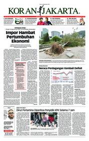 Cover Koran Jakarta 18 September 2018