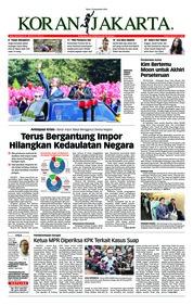 Cover Koran Jakarta 19 September 2018
