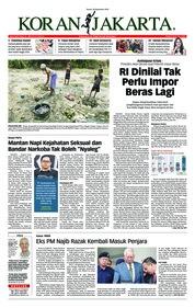 Cover Koran Jakarta 20 September 2018