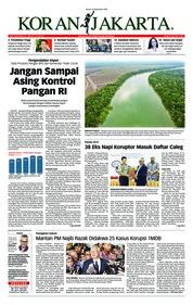 Cover Koran Jakarta 21 September 2018