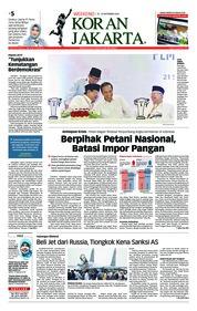 Cover Koran Jakarta 22 September 2018