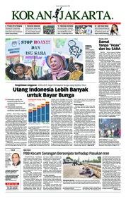 Cover Koran Jakarta 24 September 2018