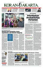 Cover Koran Jakarta 25 September 2018