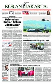 Cover Koran Jakarta 09 Oktober 2018