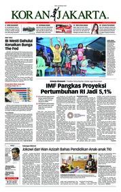Cover Koran Jakarta 10 Oktober 2018