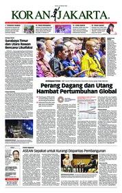 Cover Koran Jakarta 12 Oktober 2018
