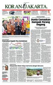 Cover Koran Jakarta 15 Oktober 2018