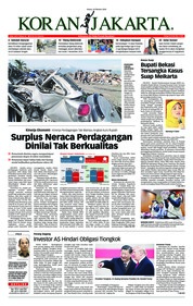 Cover Koran Jakarta 16 Oktober 2018