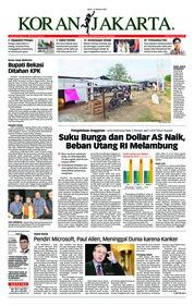 Cover Koran Jakarta 17 Oktober 2018