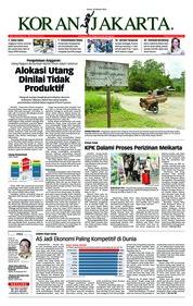 Cover Koran Jakarta 18 Oktober 2018