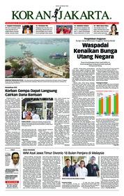 Cover Koran Jakarta 19 Oktober 2018