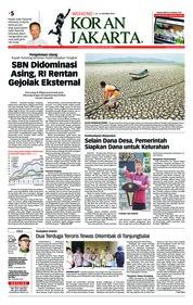 Cover Koran Jakarta 20 Oktober 2018
