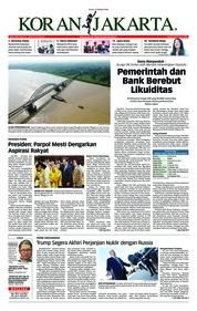 Cover Koran Jakarta 22 Oktober 2018