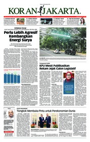 Cover Koran Jakarta 13 November 2018