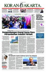 Cover Koran Jakarta 14 November 2018