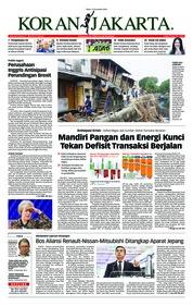 Cover Koran Jakarta 21 November 2018