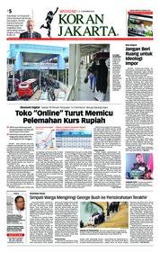 Cover Koran Jakarta 08 Desember 2018