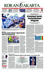 Cover Koran Jakarta 10 Desember 2018