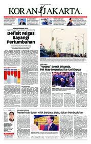Cover Koran Jakarta 11 Desember 2018