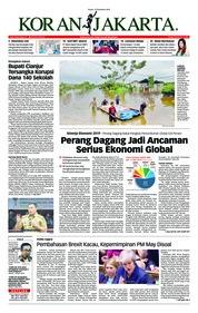 Cover Koran Jakarta 13 Desember 2018