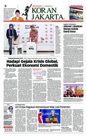 Cover Koran Jakarta 15 Desember 2018