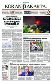 Cover Koran Jakarta 17 Desember 2018