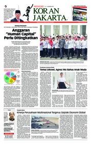 Cover Koran Jakarta 12 Januari 2019