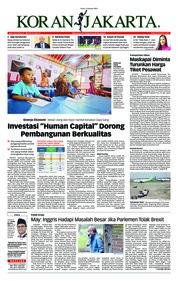 Cover Koran Jakarta 14 Januari 2019