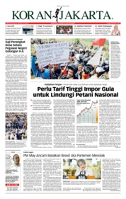Cover Koran Jakarta 15 Januari 2019